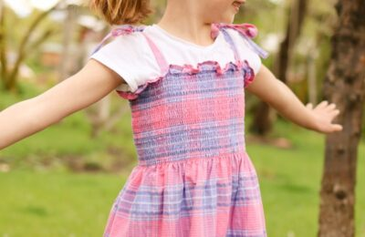 how to make a dress from pre-smocked fabric