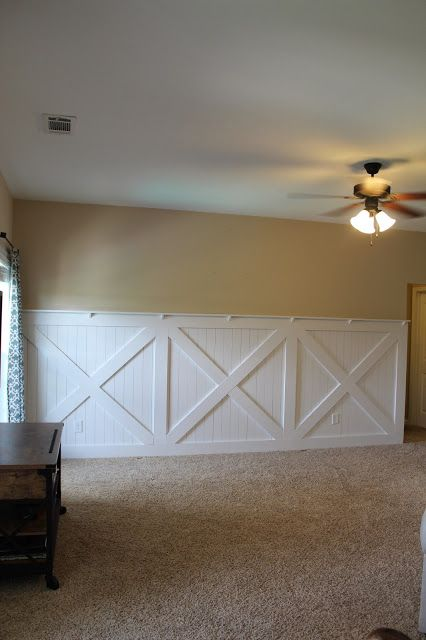 Barn Door Wainscoting