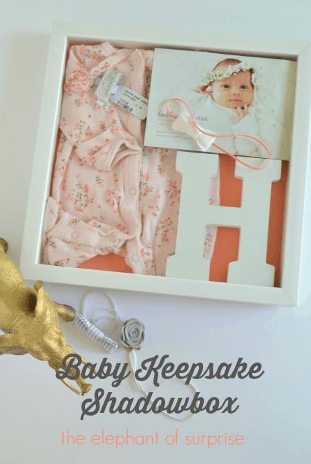 Baby Keepsake Shadow Box Showcase Those Memories