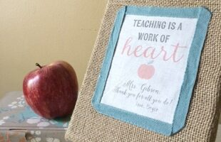 DIY Personalized Teacher Gift (she: Carmella)