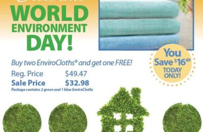 Buy 2 EnviroCloths, get 1 Free!! TODAY ONLY!!