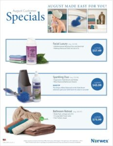 Norwex August Customer Specials (& New Products for the Year!)