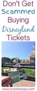 Scammed Disneyland Tickets