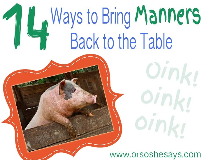 Teaching Table Manners to Kids!