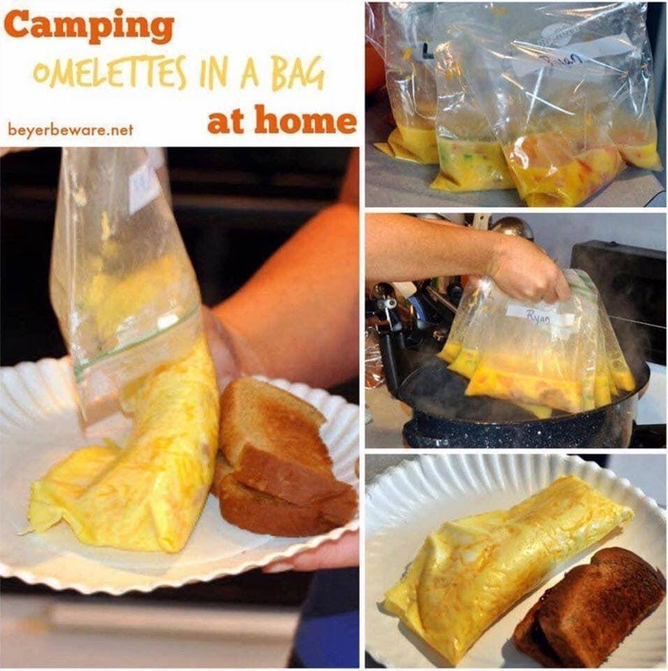 camping omelette