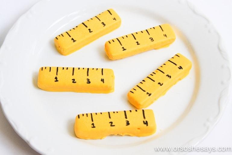 ruler cookies