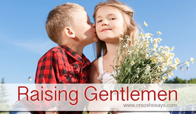 Raising Gentlemen ~ or trying to!!