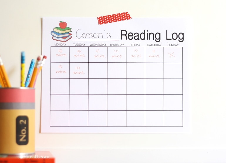 printable reading log she liz