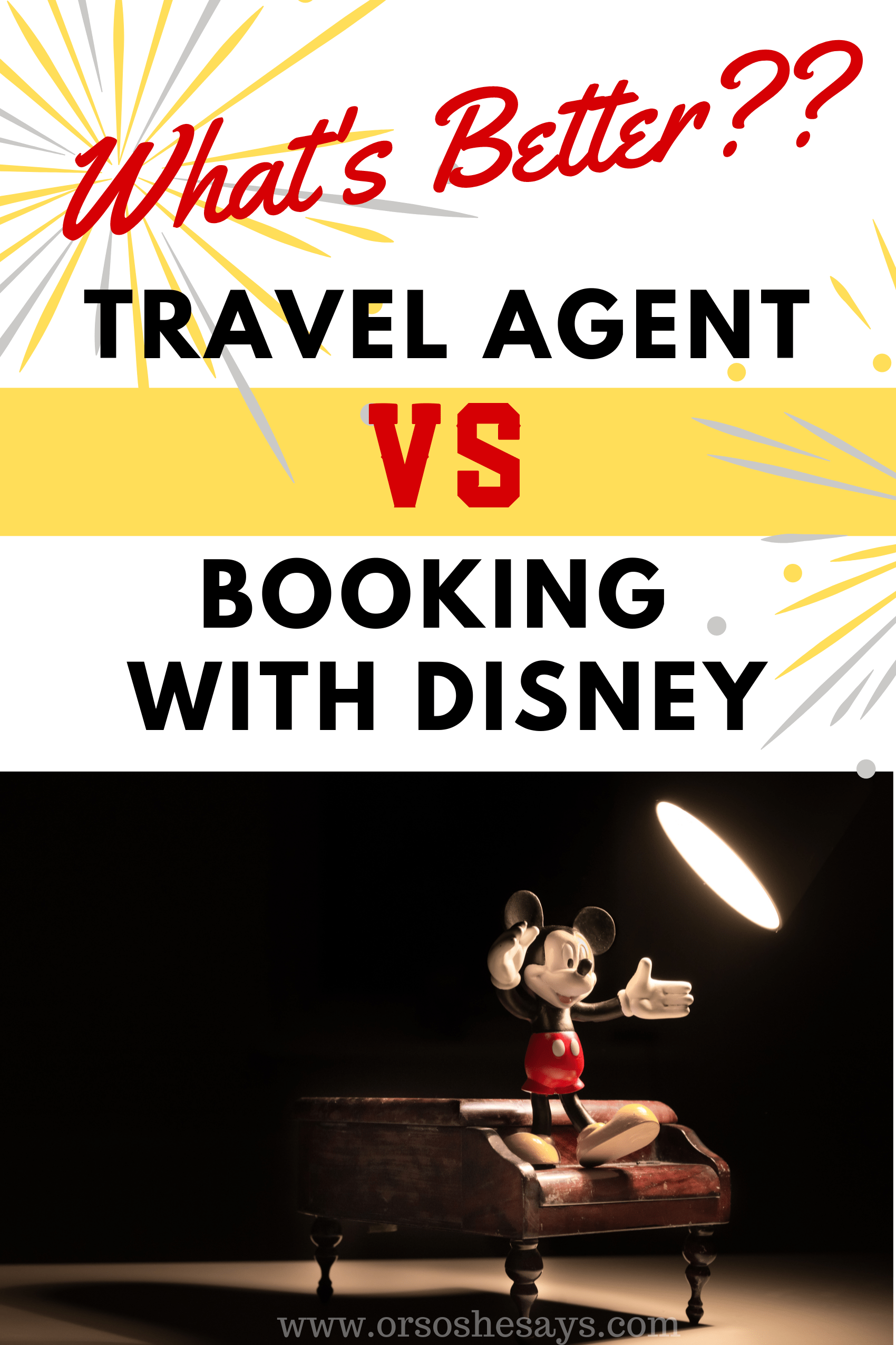 travel agent vs booking direct with Disney
