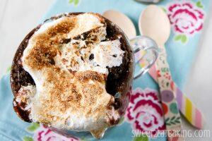 Chocolate Fudge S'mores – In a Mug! (She: Lisa)