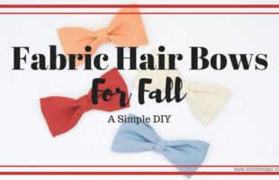 Fabric hair bows for Fall is a simple DIY for every school girl's hair this season! Get the how-to on www.orsoshesays.com