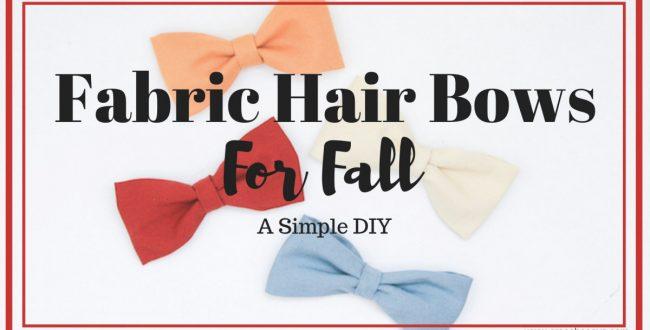 Fall Fabric Hair Bows (she: Sierra)