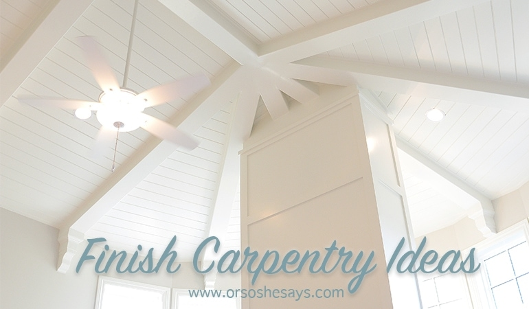 Lots and lots of AMAZING finish carpentry ideas from Mariel's husband, a Utah finish carpenter!