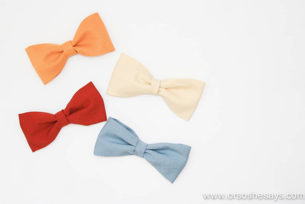 fall fabric bows