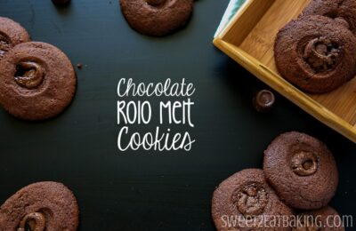 Chocolate Rolo Melt Cookies by Sweet2EatBaking.com