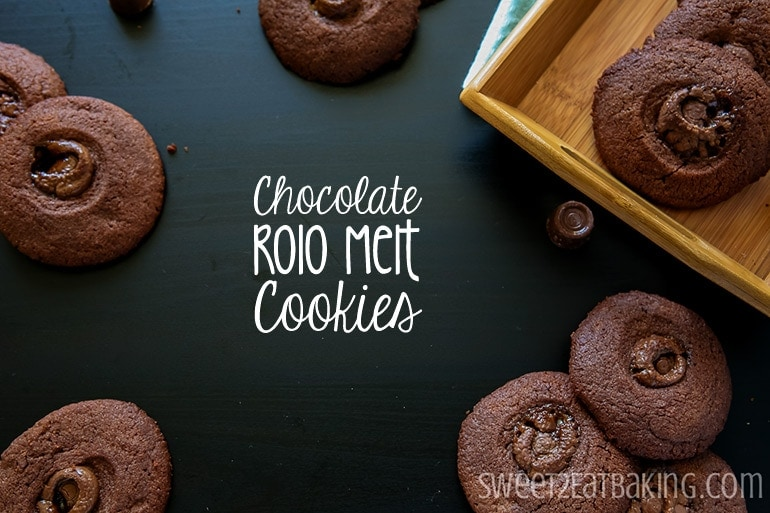 Chocolate Rolo Melt Cookies by Sweet2EatBaking.com