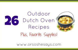 This is an AMAZING round-up of Dutch Oven recipes... I can't wait to try them!!