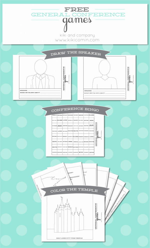 free general conference printables