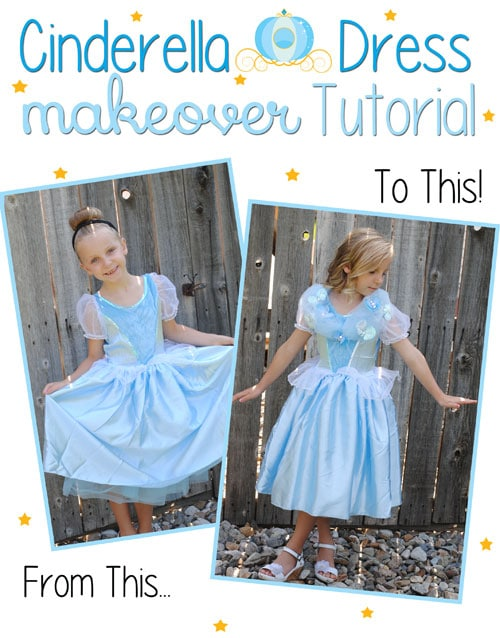 Feel like a fairy godmother with this easy Cinderella dress makeover!