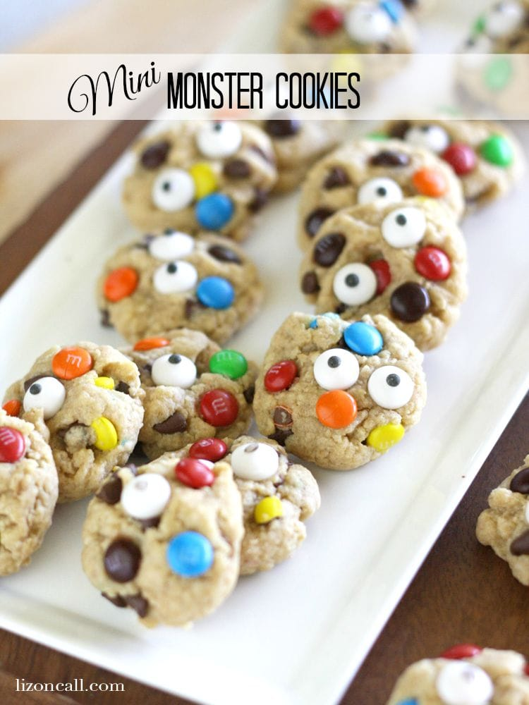 We Added Candy Eyes To Our Mini Monster Cookies For Fun