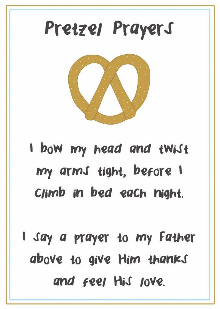 Teaching Prayer Pretzels for Family