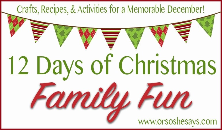 I'm so excited about this fun Christmas family tradition!! 12 Days of Family Christmas Fun ~ Includes printables and super cute ideas!