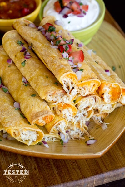 Cream Cheese Chicken Taquitos by Made From Pinterest