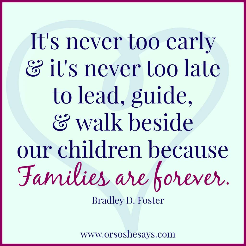 Families are Forever ~ www.orsoshesays.com