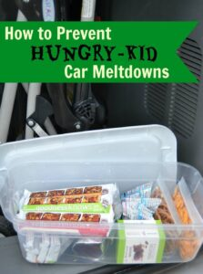 How to Prevent Hungry-Kid Car Meltdowns