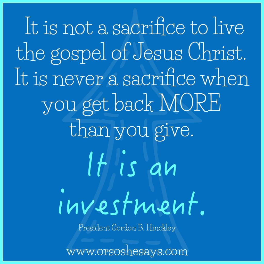 I love this quote and the video in this post. Choose TODAY to draw closer to Christ and tomorrow will be better because of it. www.orsoshesays.com
