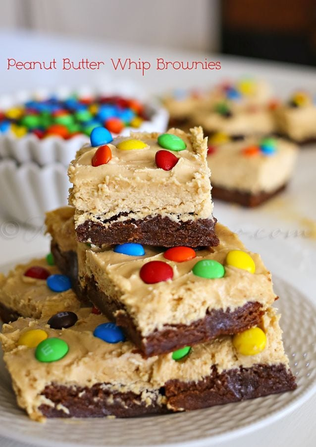 Peanut Butter Whip Brownies by Kleinworth and Co.