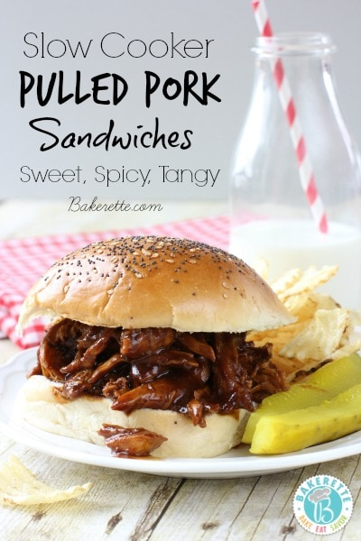 Slow Cooker Pulled Pork Sandwiches - Ultimate Tailgating Series
