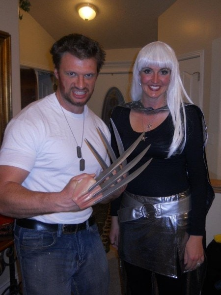 Wolverine and Storm couple costume idea for Halloween.