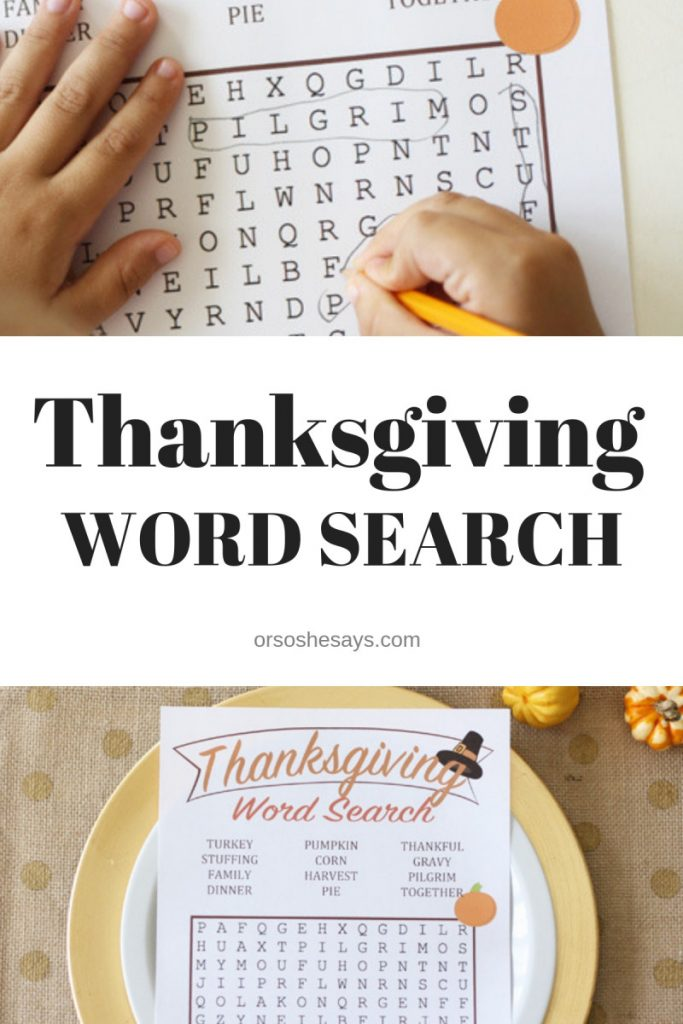graphic regarding Printable Thanksgiving Wordsearch called Thanksgiving Phrase Look (she: Liz)
