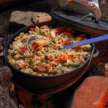 Another great Dutch oven meal! Jambalaya