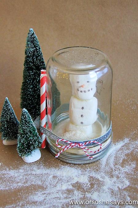 Hot Chocolate Snow Globe DIY - Or So She Says
