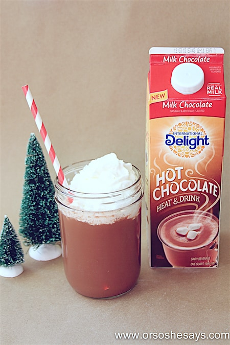 Have a hot chocolate bar this winter! www.orsoshesays.com #hotchocolate #internationaldelight #treats #winter #christmas