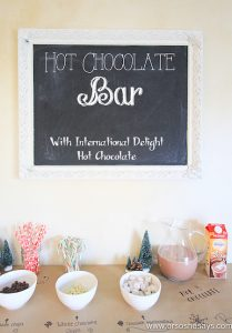 Hot Chocolate Bar – So Fun for Christmas Parties!