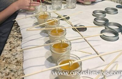 This would be so fun to do with the kids! Plus, it makes a great gift... making beeswax candles.