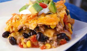 Green Chili Nacho Casserole ~ Perfect Family Dinner!