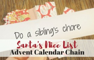 Make sure the kids get on Santa's Nice List by doing something sweet every day of December with this advent calendar! #adventcalendar #christmas #christmaswithkids