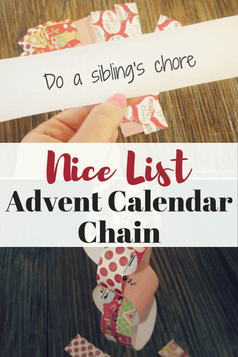 nice list advent calendar a fun diy for the kids she. Black Bedroom Furniture Sets. Home Design Ideas