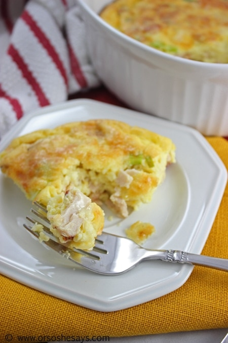 Roasted Garlic Cheese and Turkey Blender Quiche (45) copy