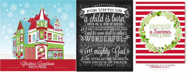 christmas printables at kiki and company
