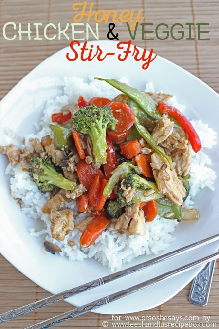 Try this delicious Honey Chicken and Veggie Stir Fry with the family and win them over with all the flavors they love!