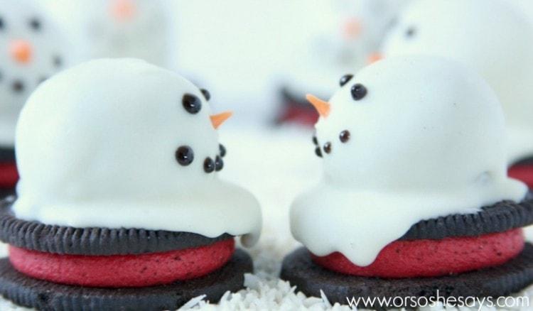 OREO melted snowmen 6