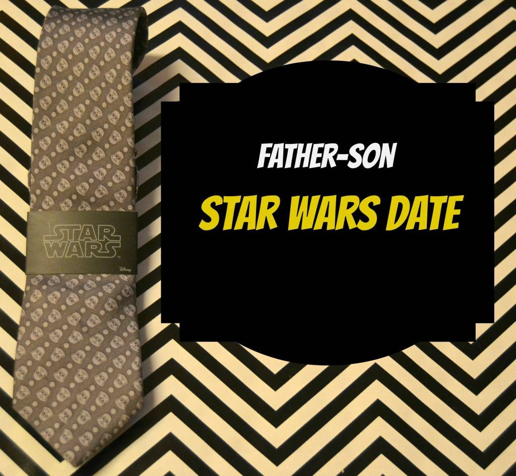 This is the cutes!! I love the idea of a Father Son Star Wars Date to the new movie.  Printable invitation and movie treat ideas included!  Oh, and these  Star Wars ties?? Holy cute.