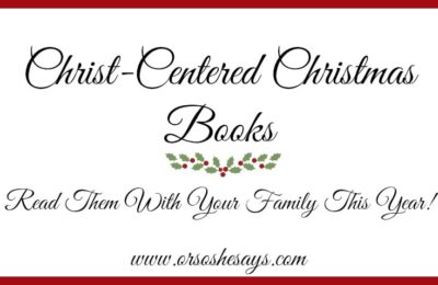 Christ Centered Christmas Books