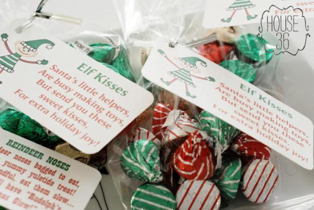 i love simple neighbor gifts and theses little elf kisses are super cute and easy from - 12 Days Of Christmas For Neighbors