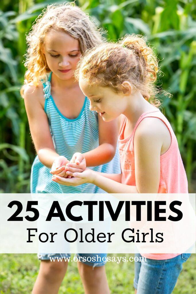 tween girl activities